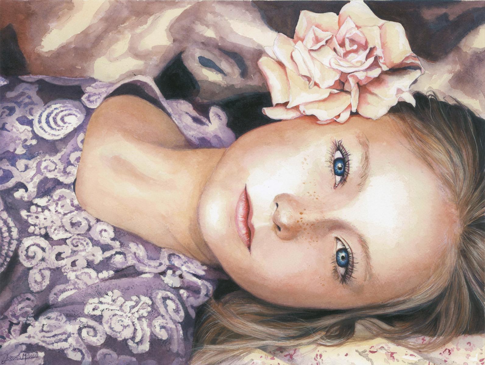 la ragazza con la rosa